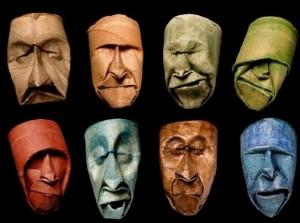 Upcycling: Ansikten av toarullar från franske konstnären Junior Fritz Jaquet. Bloggen re-creating.se