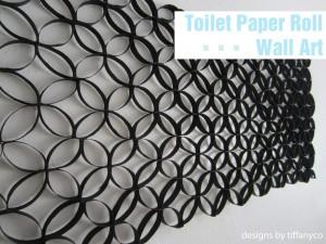 Upcycling: väggdekoration av toarullar. Bloggen Re-creating.se