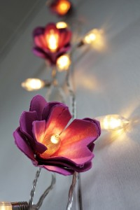 Upcyling: ljusslinga av äggkartonger. Bloggen Re-creating.se