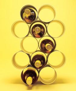 Upcycling av konservburkar till vinställ (återbruk). Bloggen Re-creating.se